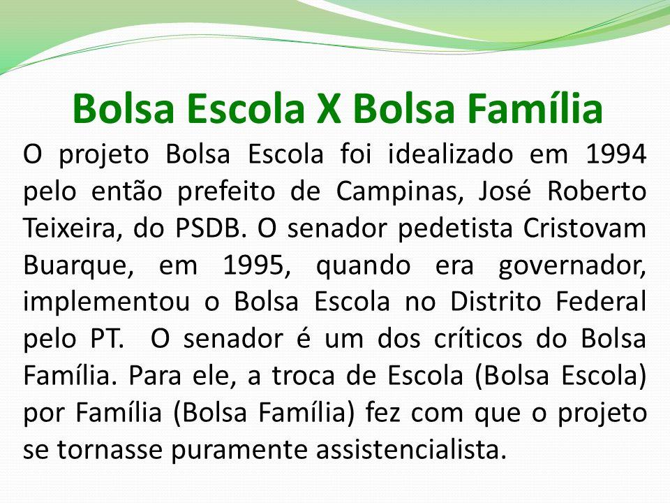 Bolsa Escola X Bolsa Família