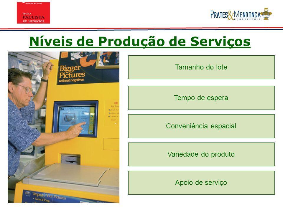 Níveis de Produção de Serviços