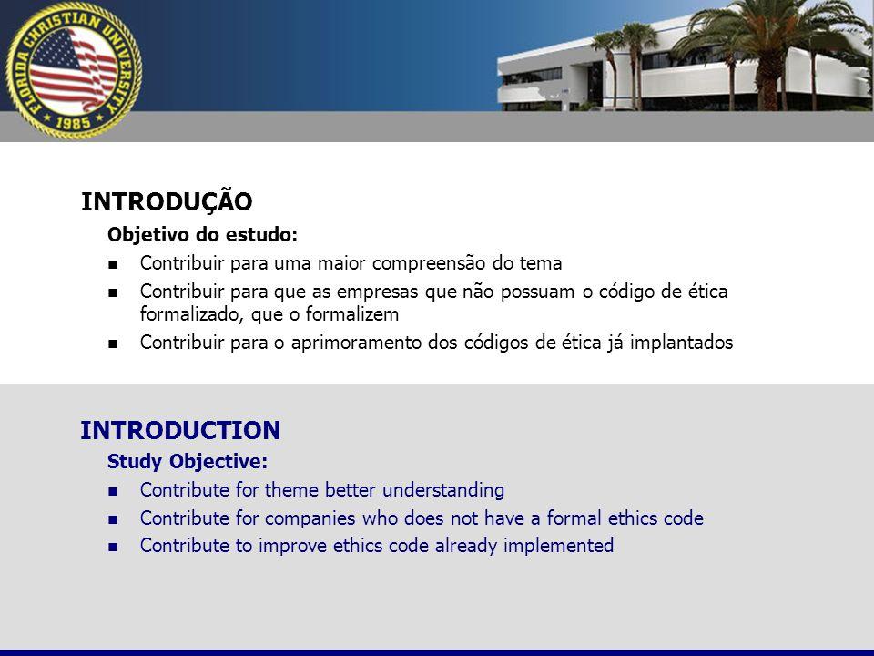 INTRODUÇÃO INTRODUCTION Objetivo do estudo: