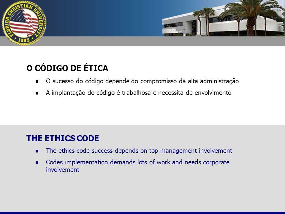 O CÓDIGO DE ÉTICA THE ETHICS CODE