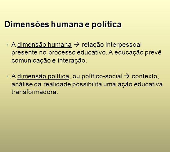 Dimensões humana e política