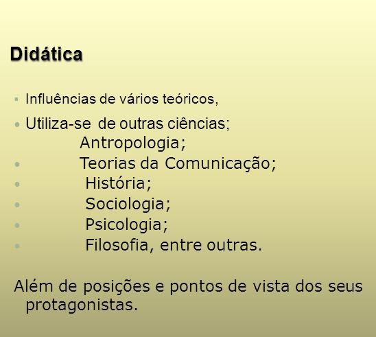 Didática Utiliza-se de outras ciências; Antropologia;