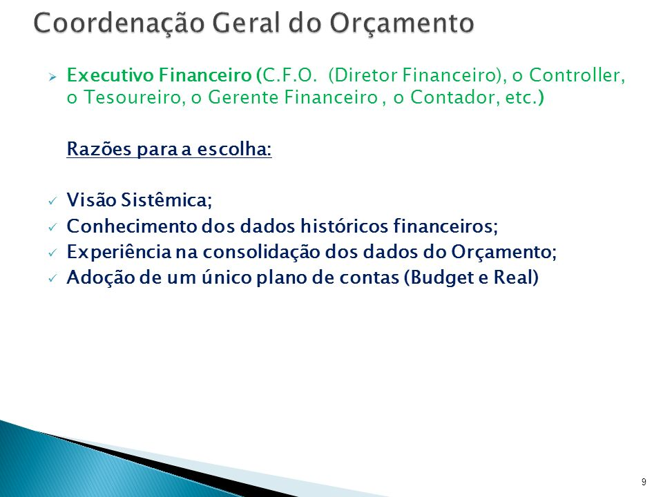 Coordenação Geral do Orçamento