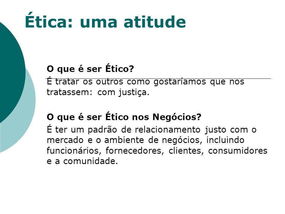 Ética: uma atitude O que é ser Ético