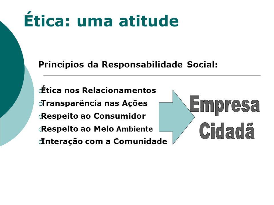Ética: uma atitude Empresa Cidadã