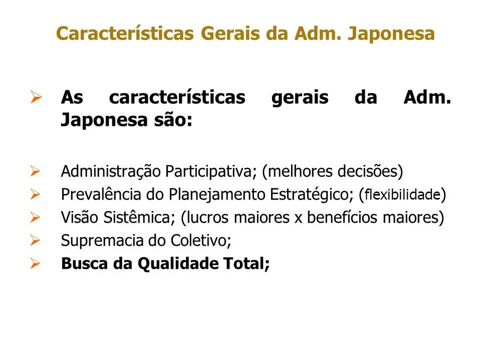 Características Gerais da Adm. Japonesa