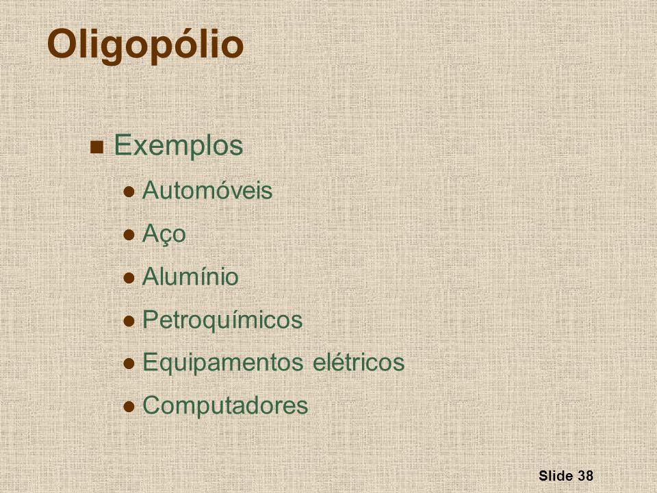 Oligopólio Exemplos Automóveis Aço Alumínio Petroquímicos