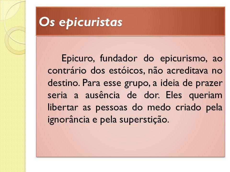 Os epicuristas