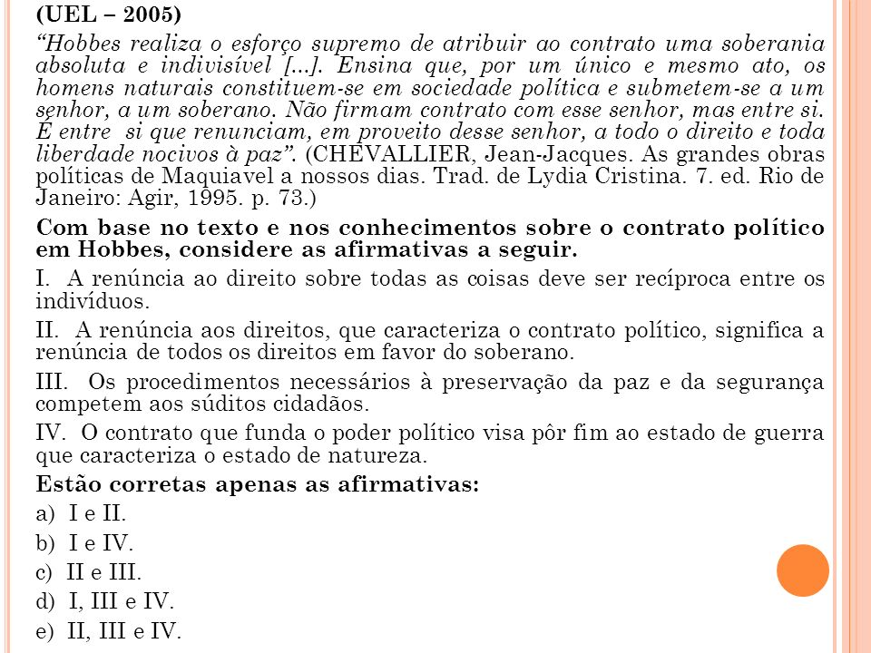 (UEL – 2005)