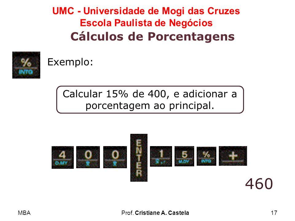 Cálculos de Porcentagens