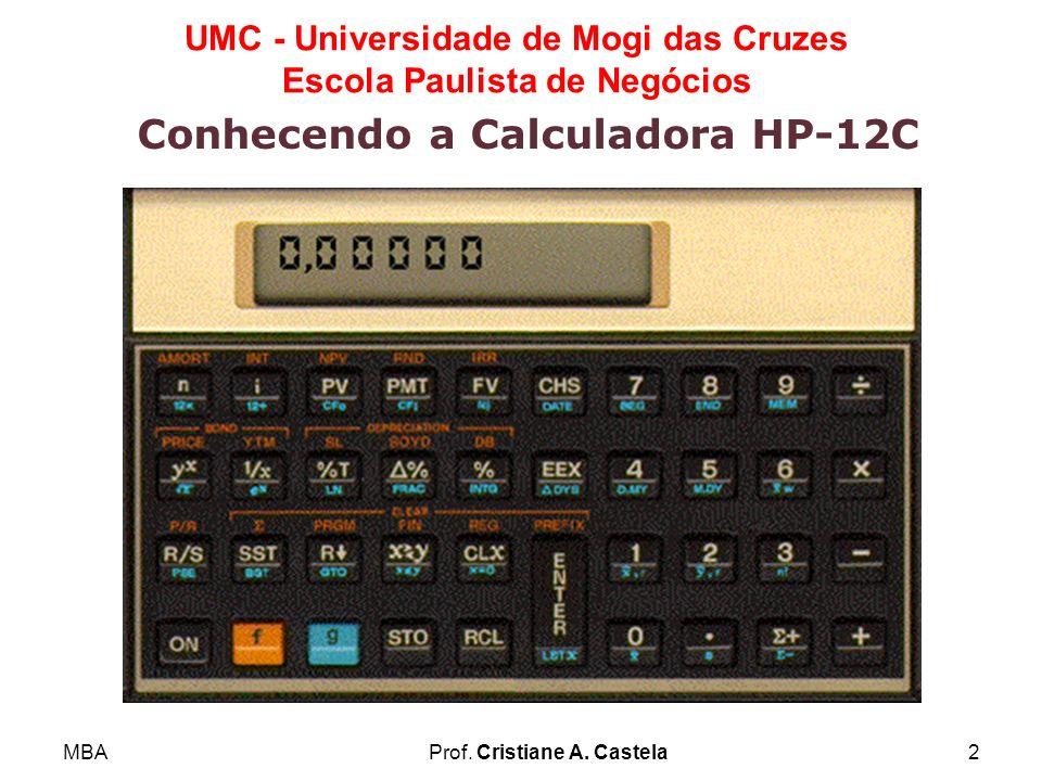 Conhecendo a Calculadora HP-12C
