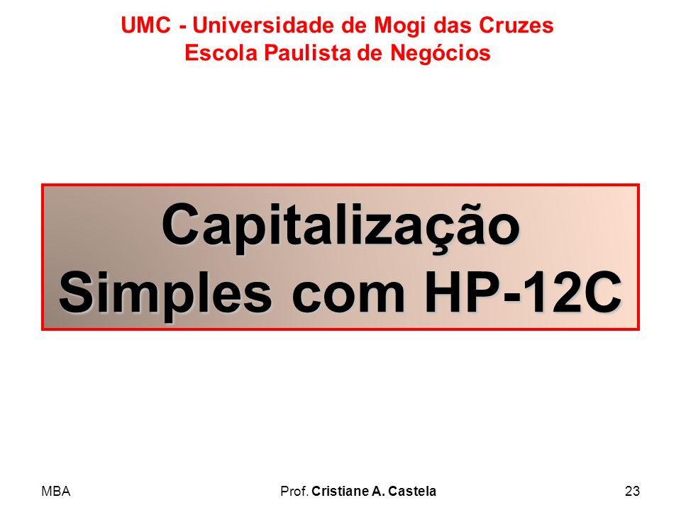 Capitalização Simples com HP-12C