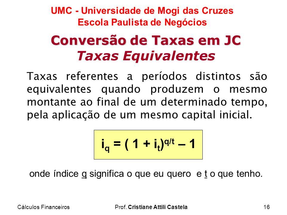 Conversão de Taxas em JC