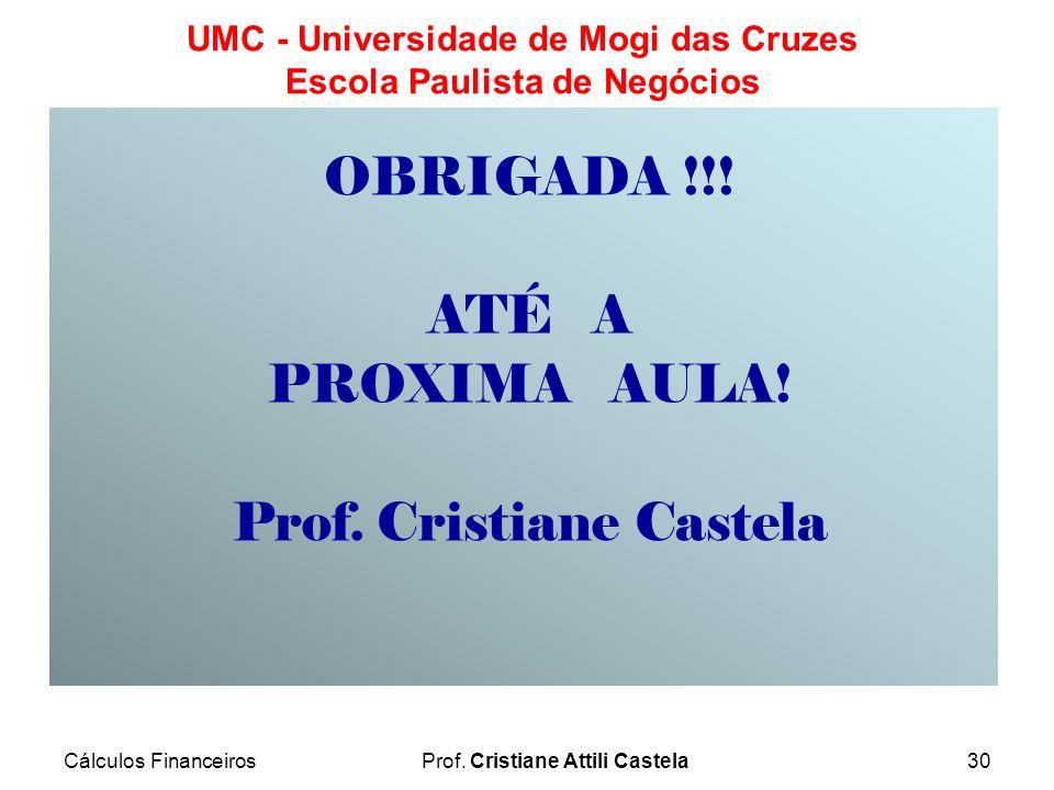 Prof. Cristiane Castela