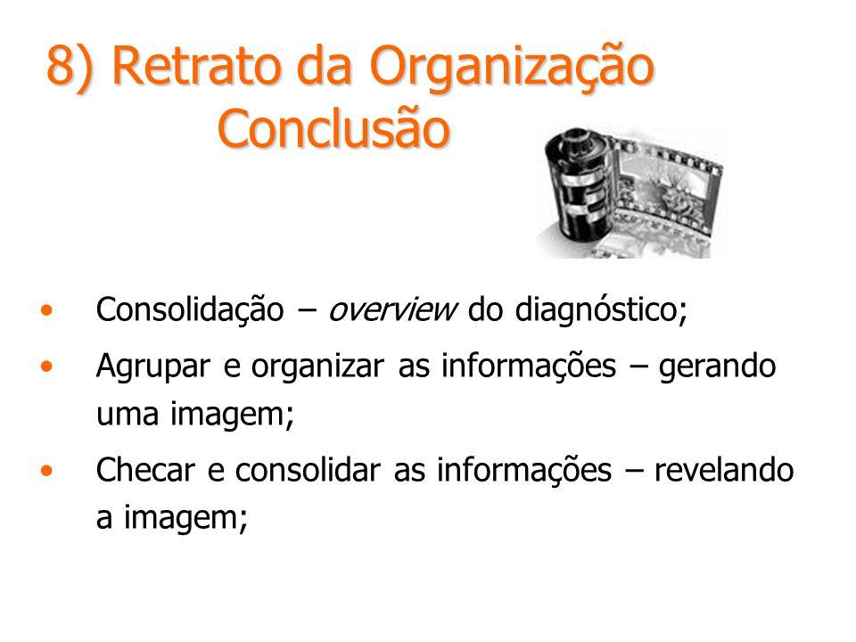 8) Retrato da Organização Conclusão