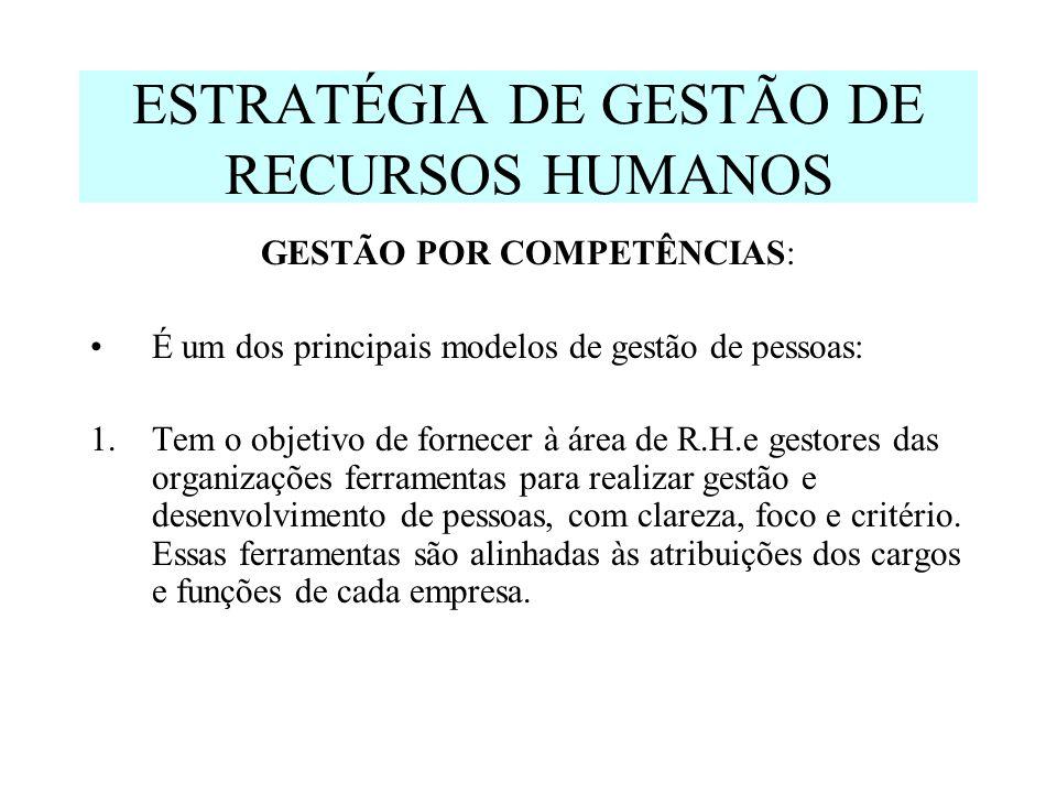 ESTRATÉGIA DE GESTÃO DE RECURSOS HUMANOS