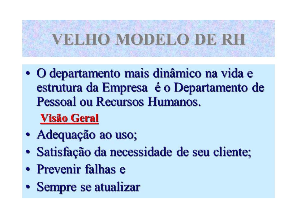VELHO MODELO DE RHO departamento mais dinâmico na vida e estrutura da Empresa é o Departamento de Pessoal ou Recursos Humanos.