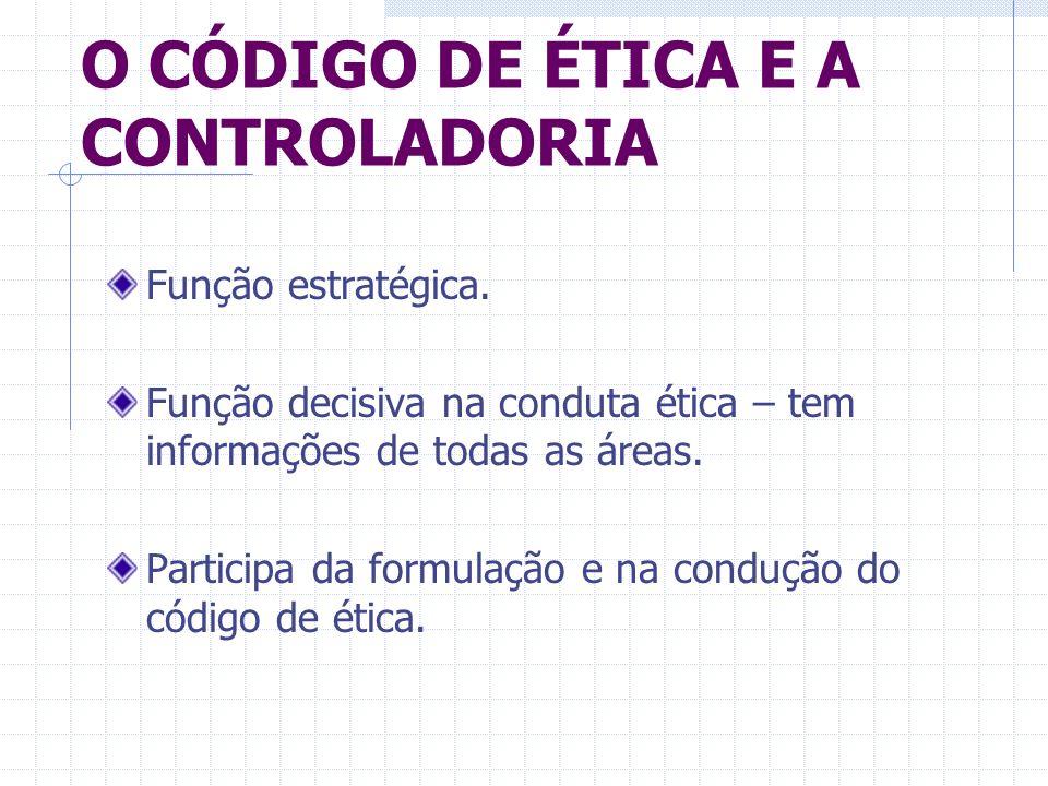 O CÓDIGO DE ÉTICA E A CONTROLADORIA