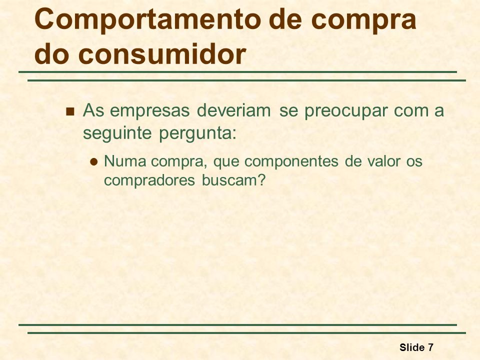 Comportamento de compra do consumidor
