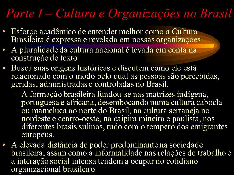 Parte I – Cultura e Organizações no Brasil