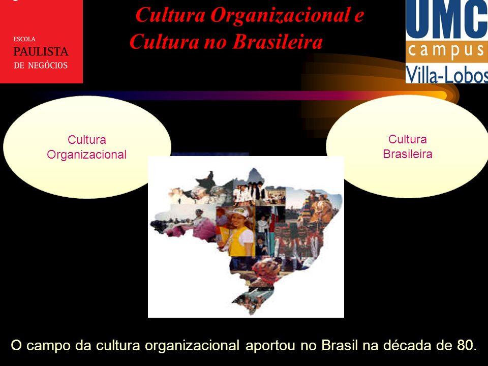 Cultura Organizacional e Cultura no Brasileira