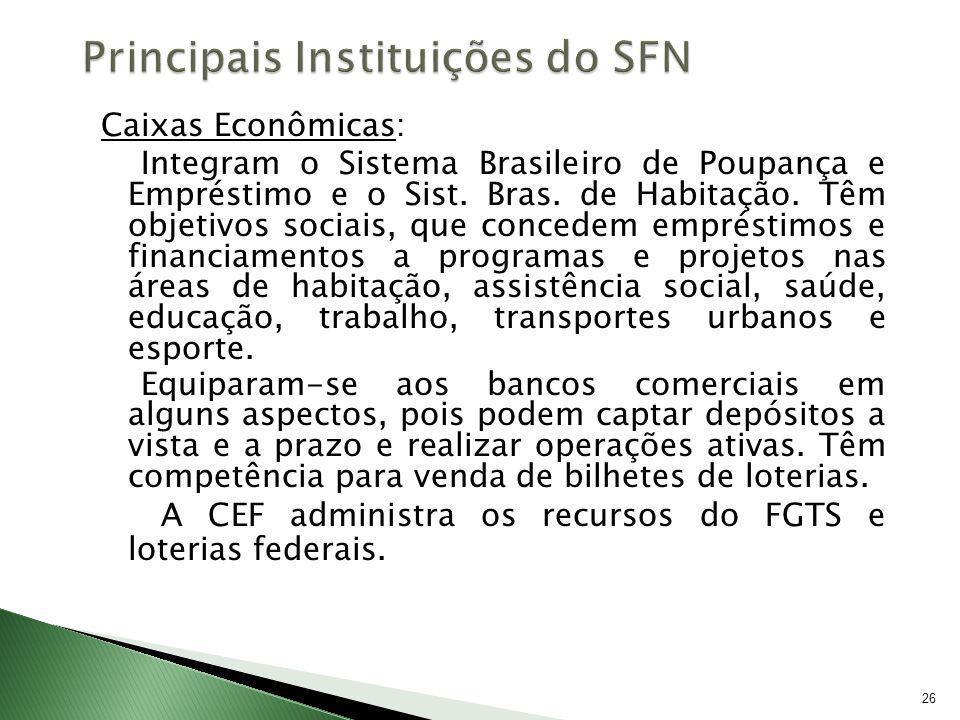 Principais Instituições do SFN