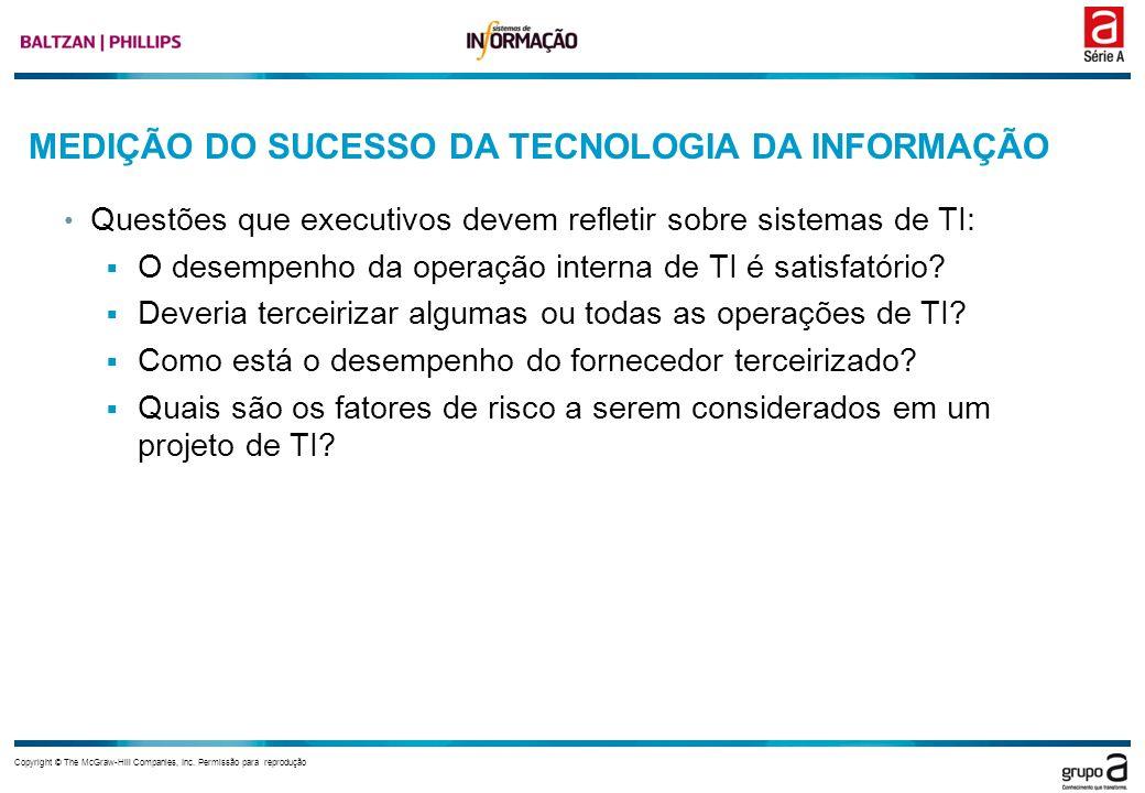 MEDIÇÃO DO SUCESSO DA TECNOLOGIA DA INFORMAÇÃO