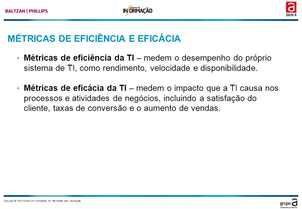 MÉTRICAS DE EFICIÊNCIA E EFICÁCIA