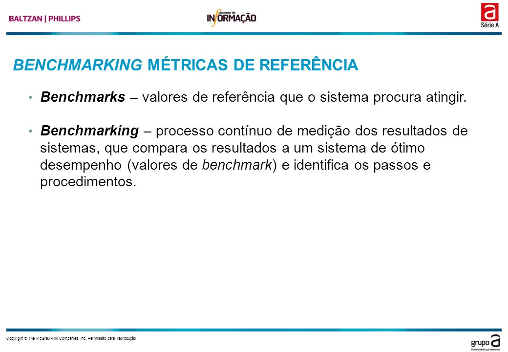 BENCHMARKING MÉTRICAS DE REFERÊNCIA