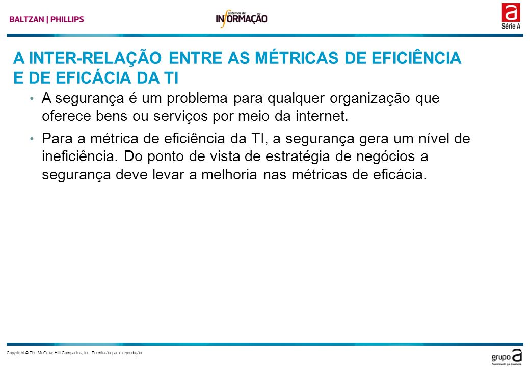 A INTER-RELAÇÃO ENTRE AS MÉTRICAS DE EFICIÊNCIA E DE EFICÁCIA DA TI