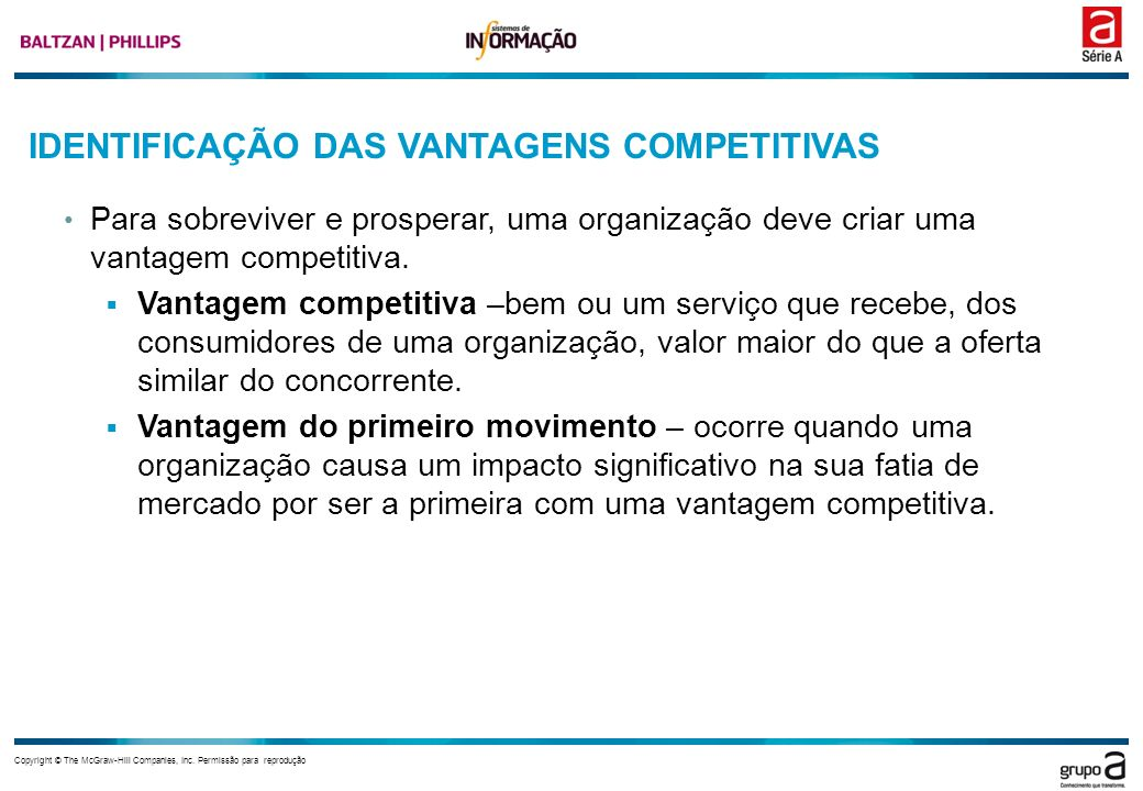 IDENTIFICAÇÃO DAS VANTAGENS COMPETITIVAS