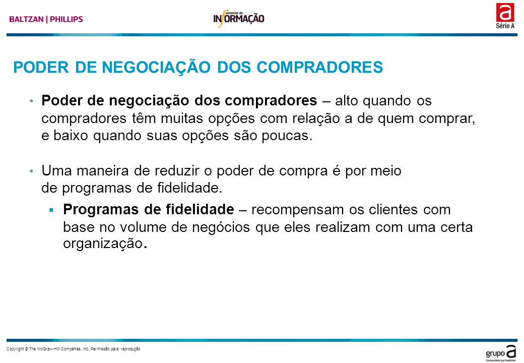 PODER DE NEGOCIAÇÃO DOS COMPRADORES