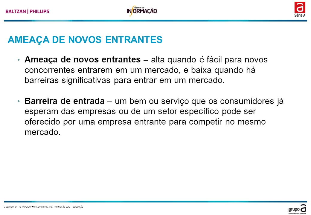 AMEAÇA DE NOVOS ENTRANTES