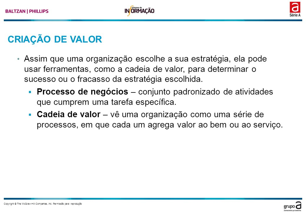 CRIAÇÃO DE VALOR