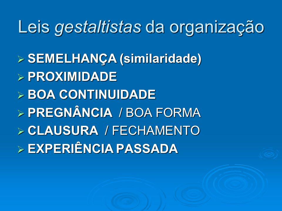 Leis gestaltistas da organização