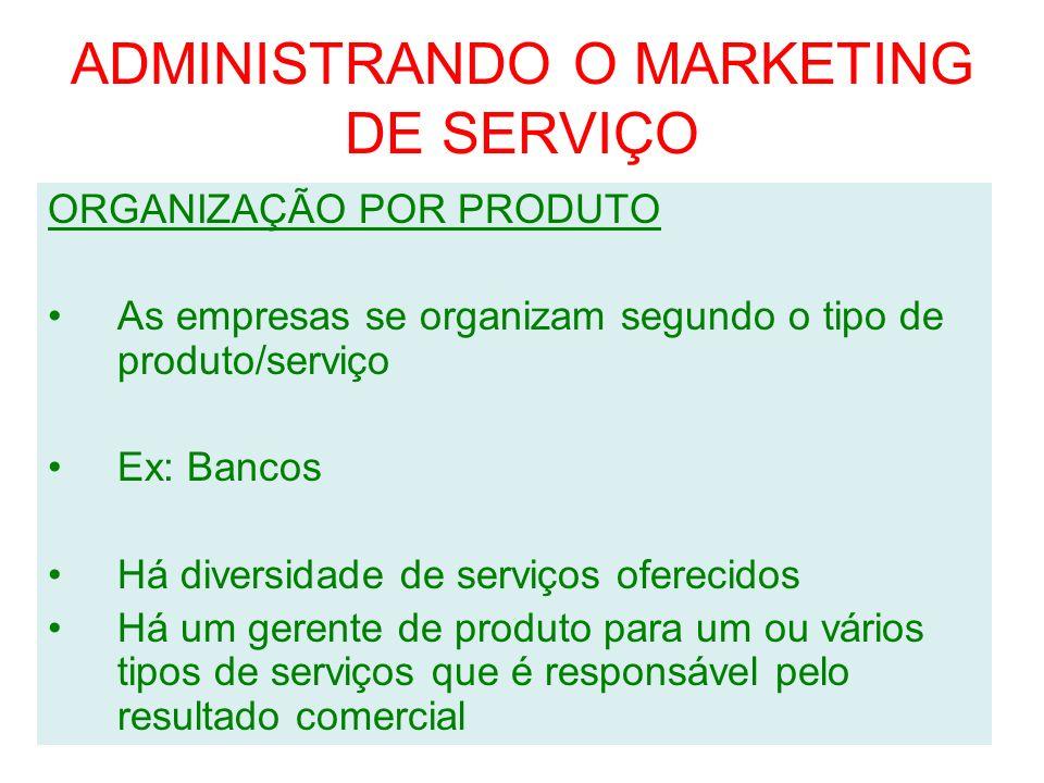 ADMINISTRANDO O MARKETING DE SERVIÇO