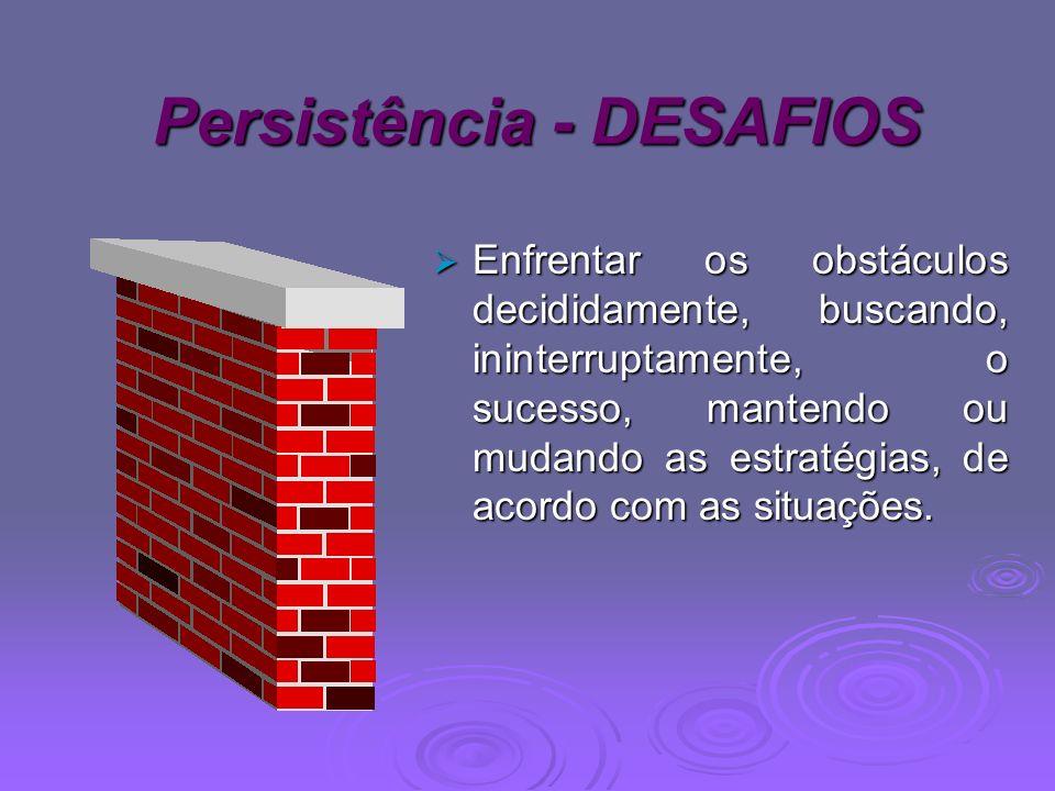 Persistência - DESAFIOS