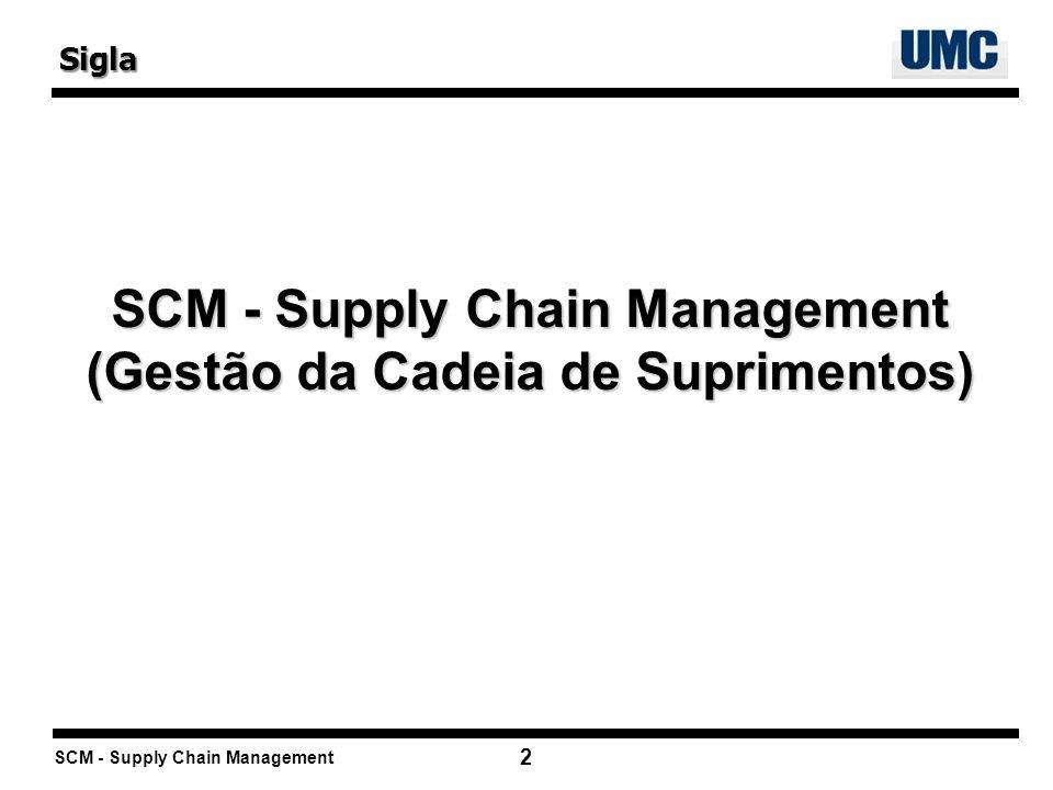 SCM - Supply Chain Management (Gestão da Cadeia de Suprimentos)
