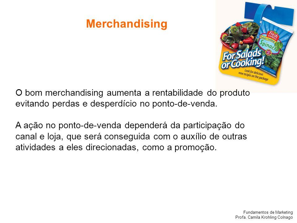 Merchandising O bom merchandising aumenta a rentabilidade do produto