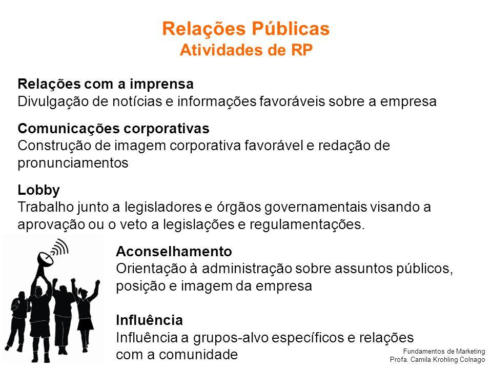 Relações Públicas Atividades de RP Relações com a imprensa