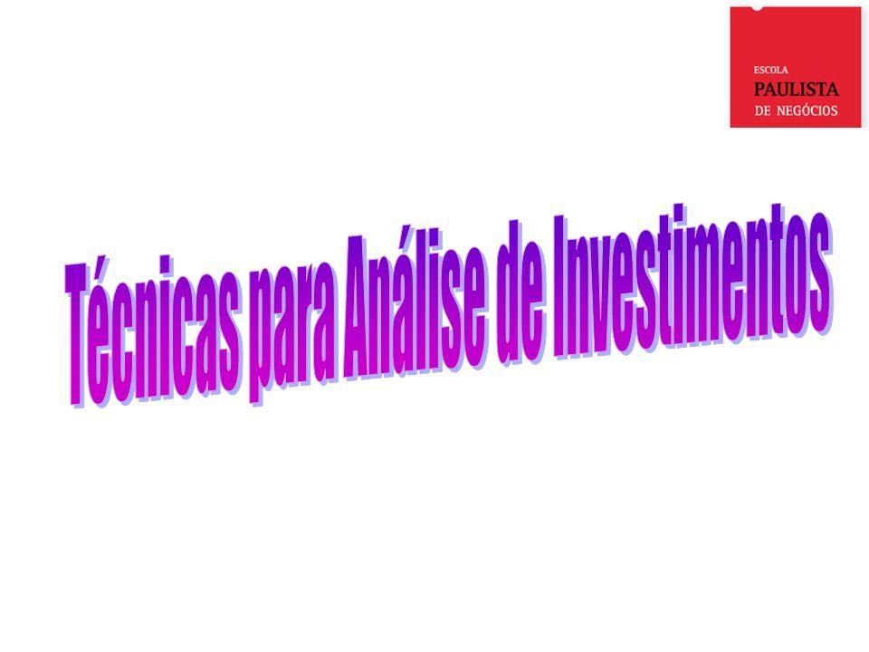 Técnicas para Análise de Investimentos