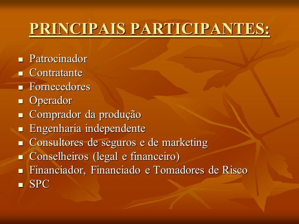 PRINCIPAIS PARTICIPANTES:
