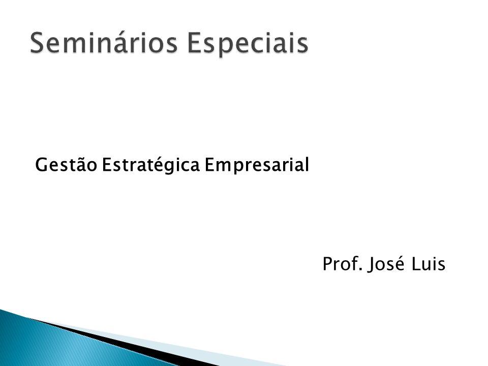 Seminários Especiais Gestão Estratégica Empresarial Prof. José Luis
