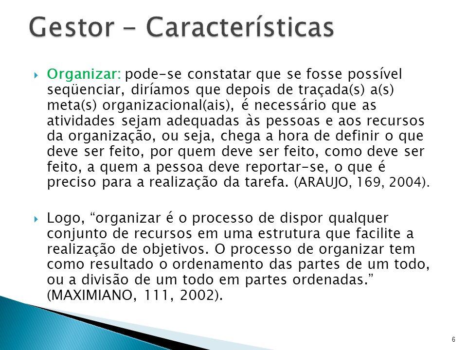 Gestor - Características