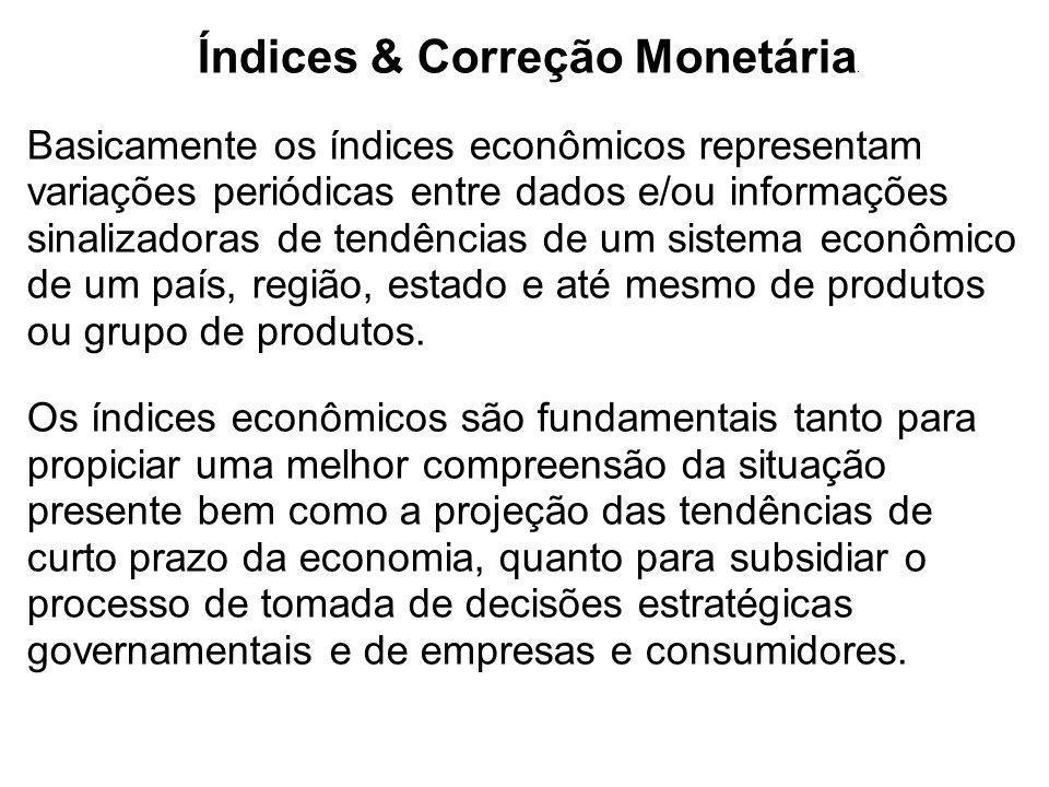 Índices & Correção Monetária.