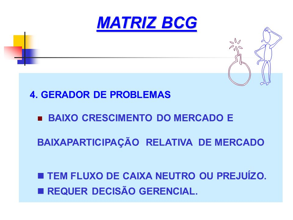 MATRIZ BCG 4. GERADOR DE PROBLEMAS