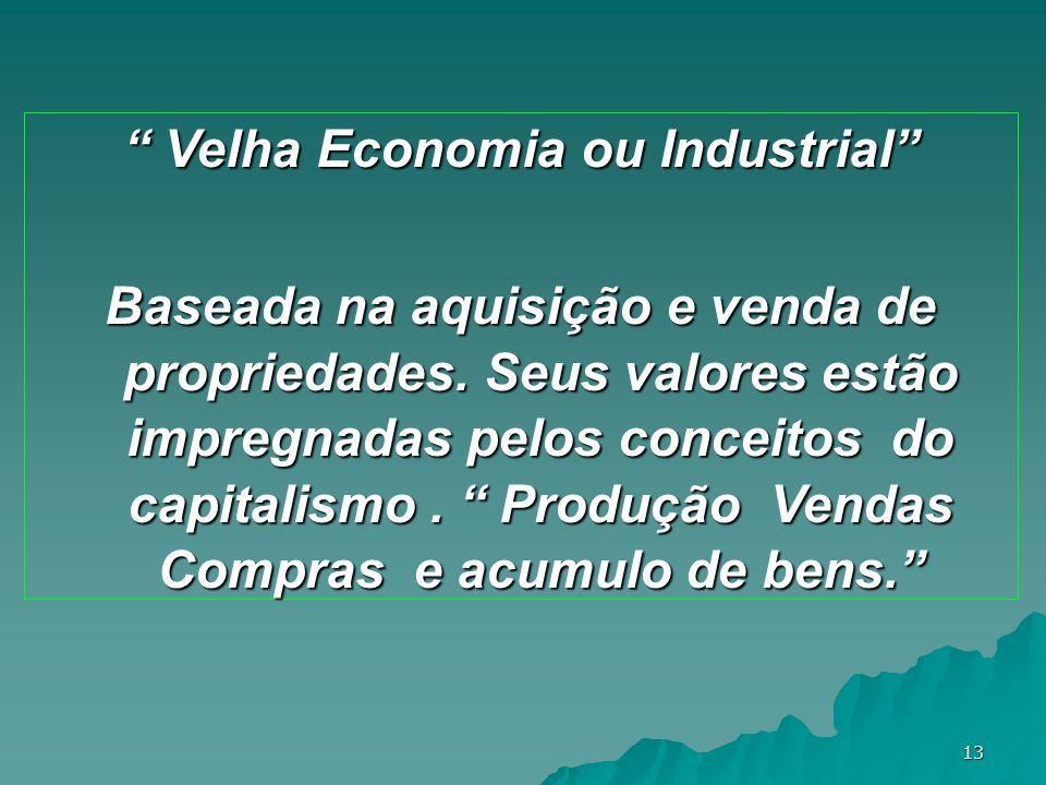 Velha Economia ou Industrial