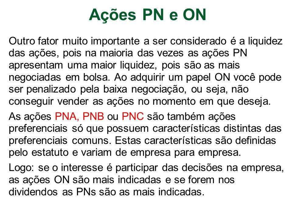 Ações PN e ON