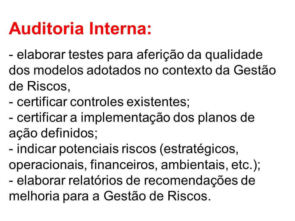 Auditoria Interna: