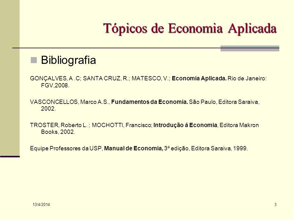 Tópicos de Economia Aplicada